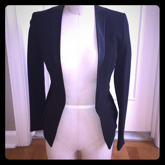 H&M Jackets & Blazers - H&M faux leather trimmed blazer